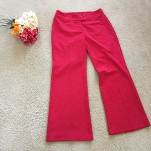 Chadwick's Red Classic Bootcut Trouser 12 Stretch